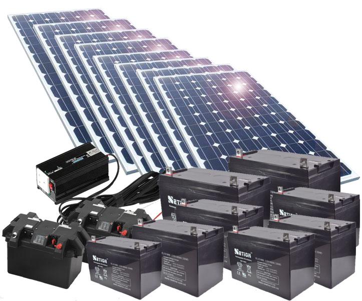 Baterías y paneles solares