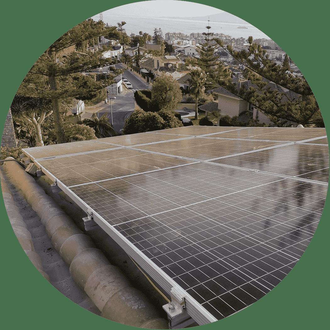 Placas solares en tejado